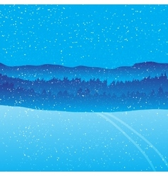Holiday winter landscape background with forest vector image vector image