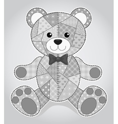 Old bear toy vector image vector image