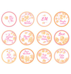 Personalized candy sticker labels vector
