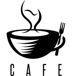 restaurant or cafe concept with cup of coffee and vector image vector image