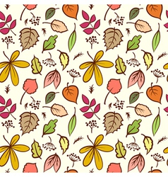 Seamless autumn leaves texture pattern background vector image