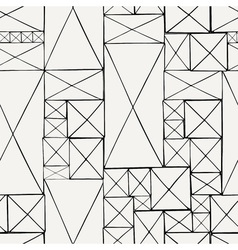 Block hand drawn doodle seamless pattern vector