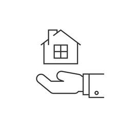 house on hand vector image