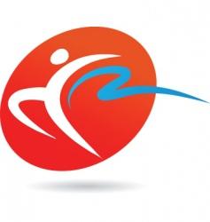 sport silhouette series gymnast vector image