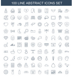 100 abstract icons vector