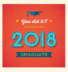 2018 graduation card design vector