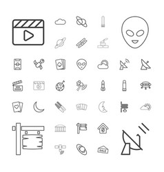 37 space icons vector