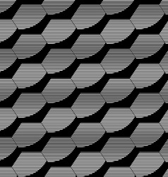 Abstract black and white hexagon seamless pattern vector image