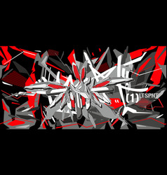 abstract word slam graffiti style font lettering vector image