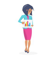 beautiful businesswoman poster vector image