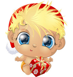 beautiful cute baby vector image