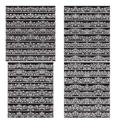 black white vintage brushes big set borders vector image