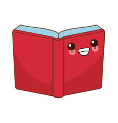 book open symbol cute kawaii cartoon vector image