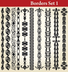 Borders set vector