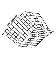 Brickwork exposed vintage engraving vector