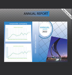 business annual report design for year last vector image