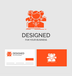 Business logo template for group multiplayer vector