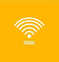 Button signal icon template design vector