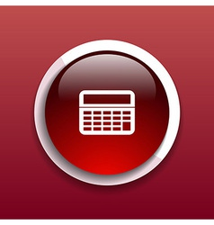 Calculator Icon website isolated displa mathematic vector