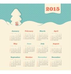 Calendar 2015 year with Christmas tree vector image