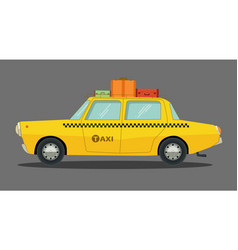 Cartoon car in flat design vector