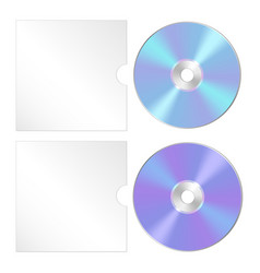 Cd dvd isolated icon compact disc realistic set vector