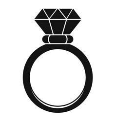 Ceremonial diamond ring icon simple style vector