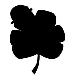 Clover silhouette cartoon vector