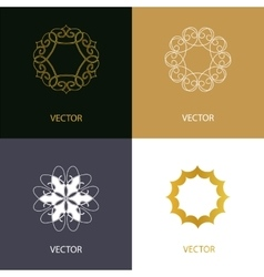 Collection of logo design templates and vector