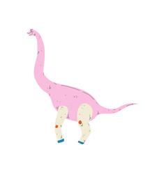colorful brachiosaurus dinosaur cute prehistoric vector image