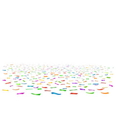 coloured ribbons confetti floor vector image
