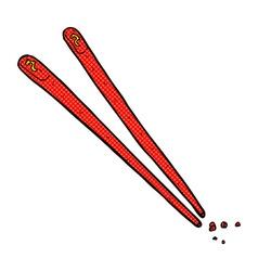 comic cartoon chopsticks vector image