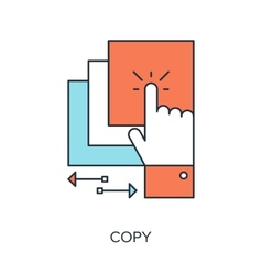 Copy icon vector