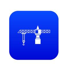crane icon digital blue vector image