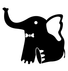 cute stuffed elephant toy vector image