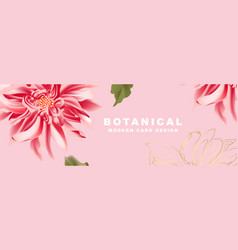 dahlia in red pink flower bloom wide banner vector image