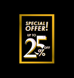 Discount special offer up to 25 off label vector