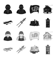 Drawing accessories metropolis house model vector