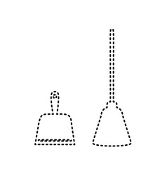 dustpan sign scoop for cleaning garbage vector image