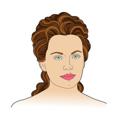 face with blue eyes vector image