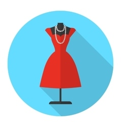 Fashion mannequin flat icon vector image