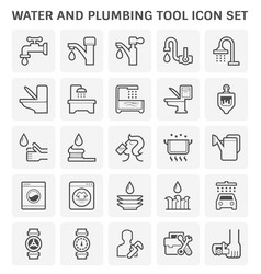 Faucet water icon vector