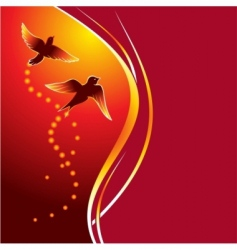 firebirds vector image vector image