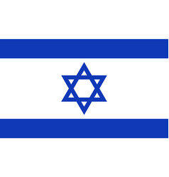 Flag of israel in official rate and colors vector