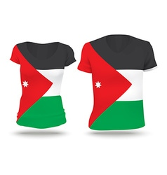 Flag shirt design of Jordan vector