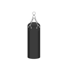 flat icon of big gray hanging punching bag vector image