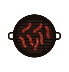 food grilled with bacon strips vector image