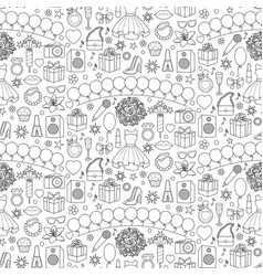 Girl party seamless pattern vector