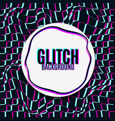 glitch background vector image