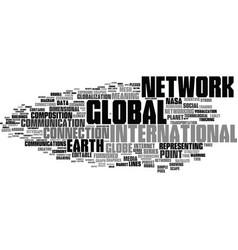 Global word cloud concept vector